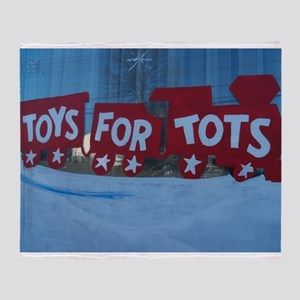 Toys For Tots Train. Throw Blanket