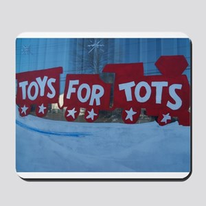 Toys For Tots Train. Mousepad