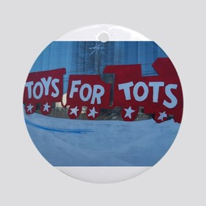 Toys For Tots Train. Ornament (round)
