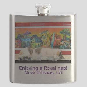 Royal Nap! New Orleans, LA Flask