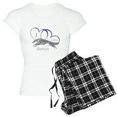 Borzoi Valentine Women's Light Pajamas