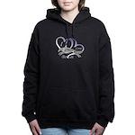Borzoi Valentine Women's Hooded Sweatshirt