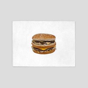 big cheeseburger 5'x7'Area Rug