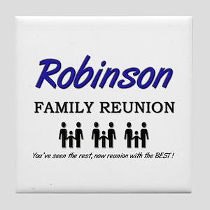 Robinson Family Reunion Tile Coaster