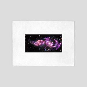 purple galaxies 5'x7'Area Rug