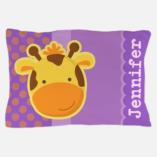 Personalized Giraffe Kids Pillow Case