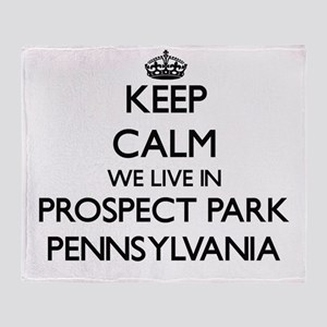 Keep calm we live in Prospect Park P Throw Blanket