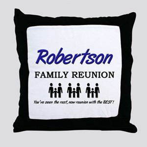 Robertson Family Reunion Throw Pillow