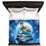 WolForia Christmas Mermaid Front King Duvet
