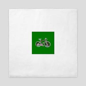 Green Bicycle Cycling Wondrous Bike fo Queen Duvet