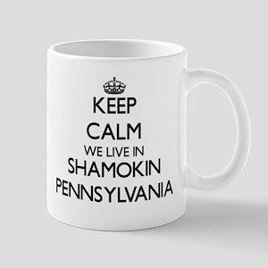 Keep calm we live in Shamokin Pennsylvania Mugs
