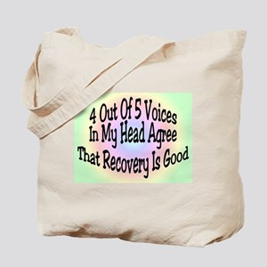 4 Out Of 5 Voices Tote Bag