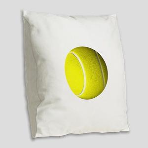 Tennis Ball Burlap Throw Pillow