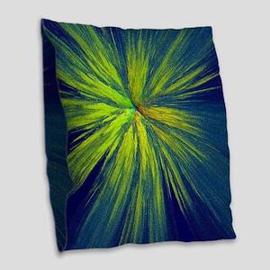 Yellow splash Burlap Throw Pillow