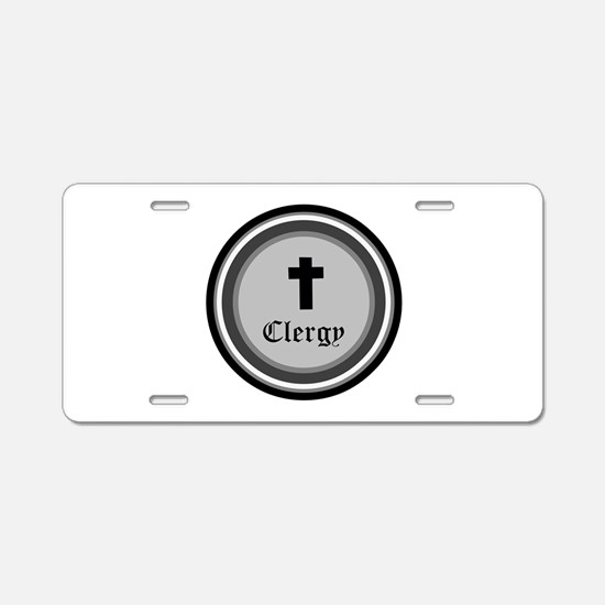 CLERGY Aluminum License Plate