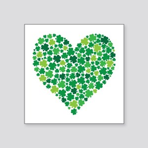 Irish Shamrock Heart - Sticker