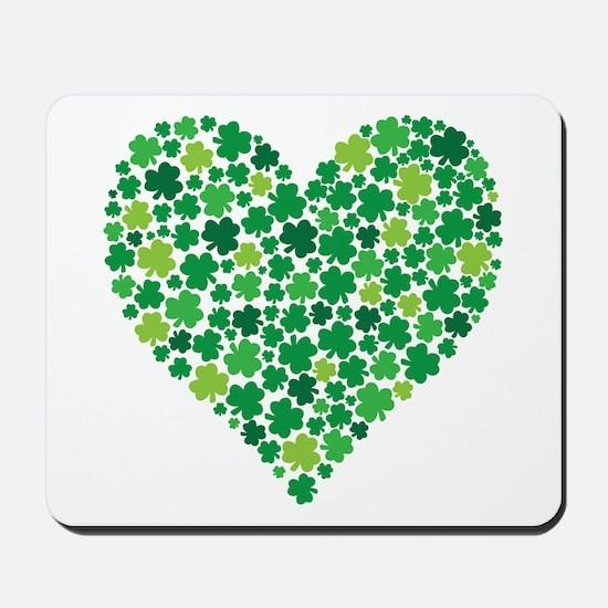 Irish Shamrock Heart - Mousepad