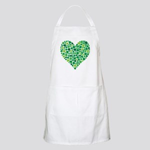 Irish Shamrock Heart - Apron