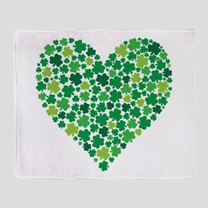 Irish Shamrock Heart - Throw Blanket
