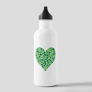 Irish Shamrock Heart - Stainless Water Bottle 1.0l