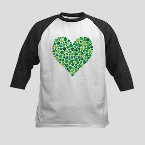Irish Shamrock Heart - Kids Baseball Jersey