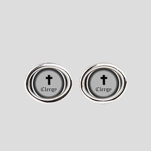 CLERGY Oval Cufflinks