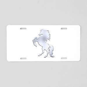 Silver Stallion Aluminum License Plate