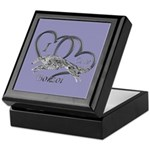 Borzoi Valentine Keepsake Box