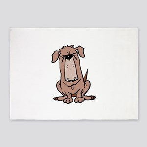 Cartoon Bulldog 5'x7'Area Rug