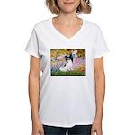Garden & Papillon Women's V-Neck T-Shirt