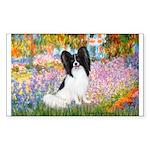 Garden & Papillon Sticker (Rectangle)
