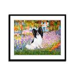 Garden & Papillon Framed Panel Print