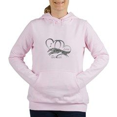 I Love Borzoi Silver Women's Hooded Sweatshirt