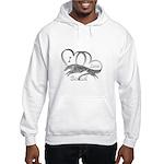 I Love Borzoi Silver Hoodie Hooded Sweatshirt