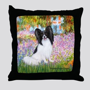 Garden & Papillon Throw Pillow