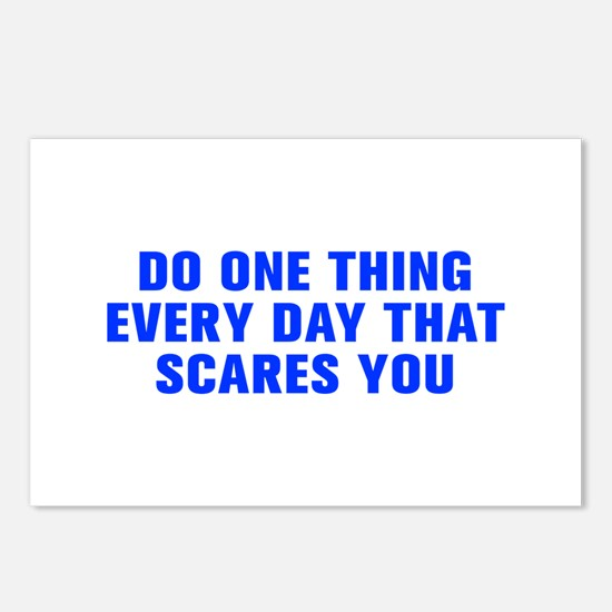 Do one thing every day that scares you-Akz blue Po