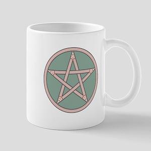 Classical Pentagram on Green Mugs