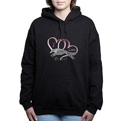 Borzoi Valentine Pink Women's Hooded Sweatshir