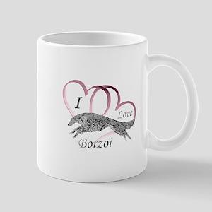 Borzoi Valentine Pink Mugs
