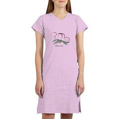 Borzoi Valentine Pink Women's Nightshirt