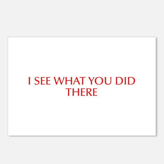 I see what you did there-Opt red Postcards (Packag