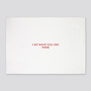 I see what you did there-Opt red 5'x7'Area Rug