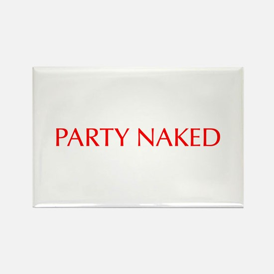 Party Naked-Opt red Magnets