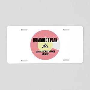 Humboldt Peak Aluminum License Plate