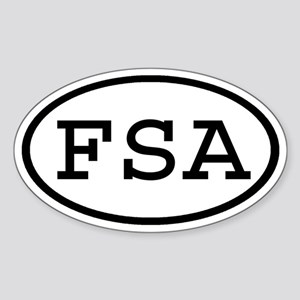FSA Oval Oval Sticker