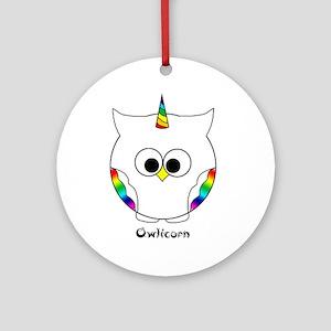 The Owlicorn Ornament (round)