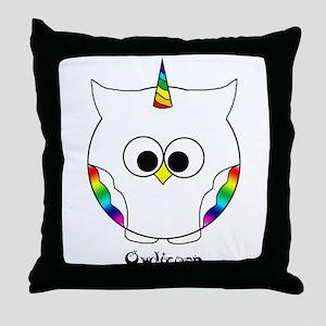 The Owlicorn Throw Pillow
