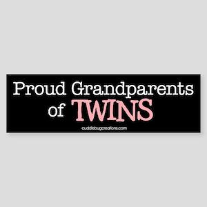 Grandparents of twins - Bumper Sticker