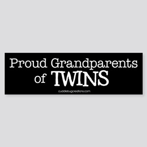 Grandparents of twins - Bumper Sticker