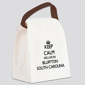 Keep calm we live in Bluffton Sou Canvas Lunch Bag